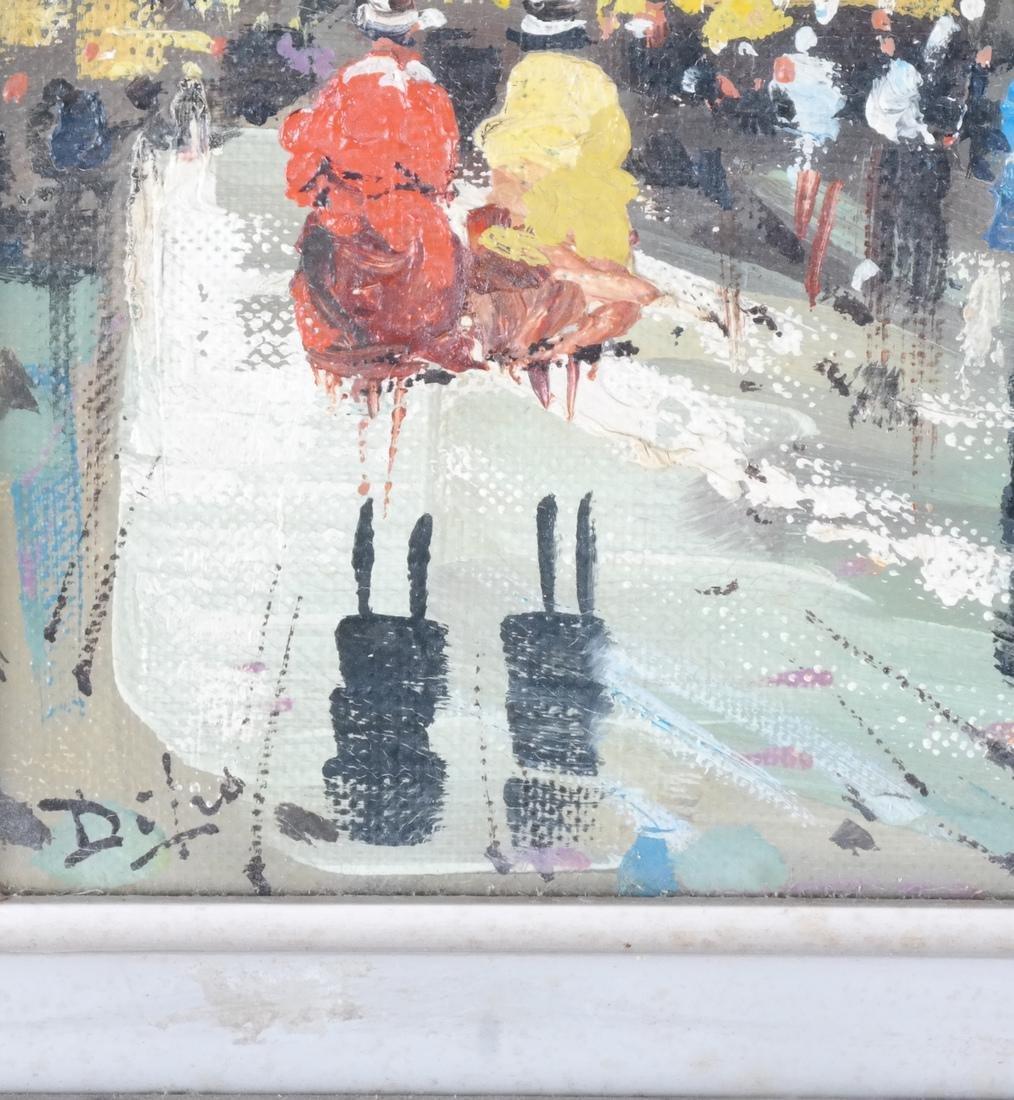 Di Leo Italian Street Scene Oil / Canvas - 3