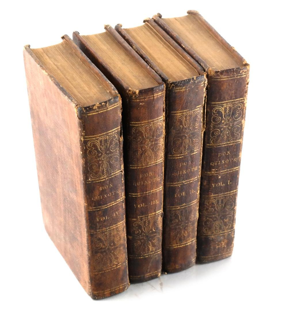 Jarvis, Don Quixote, 4 Leather Volumes