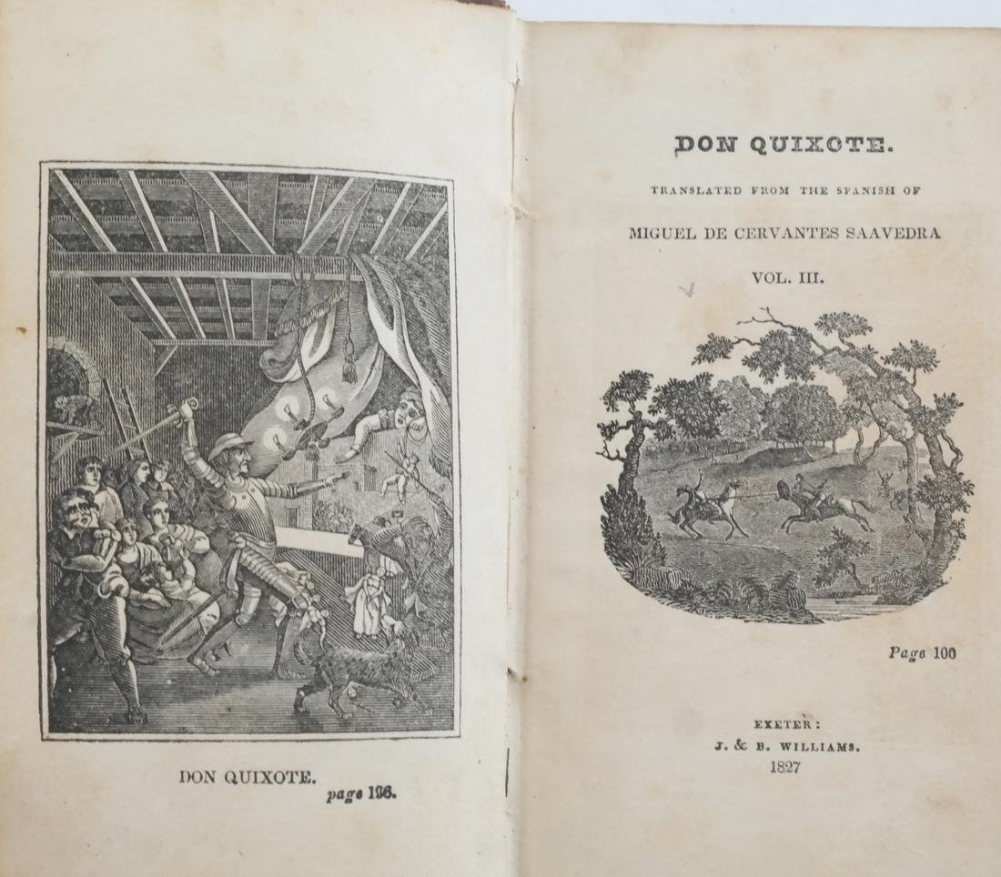 Jarvis, Don Quixote, 4 Leather Volumes - 4