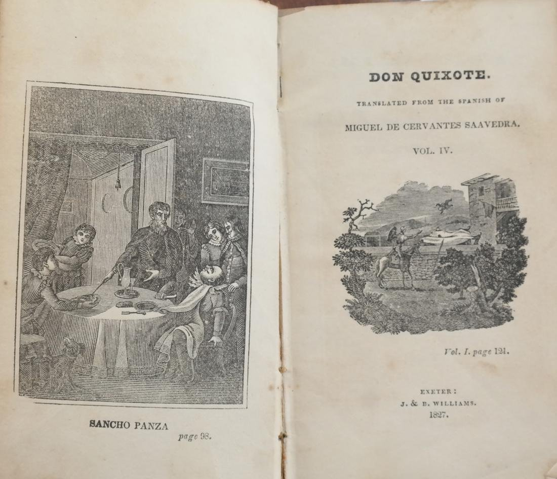 Jarvis, Don Quixote, 4 Leather Volumes - 5