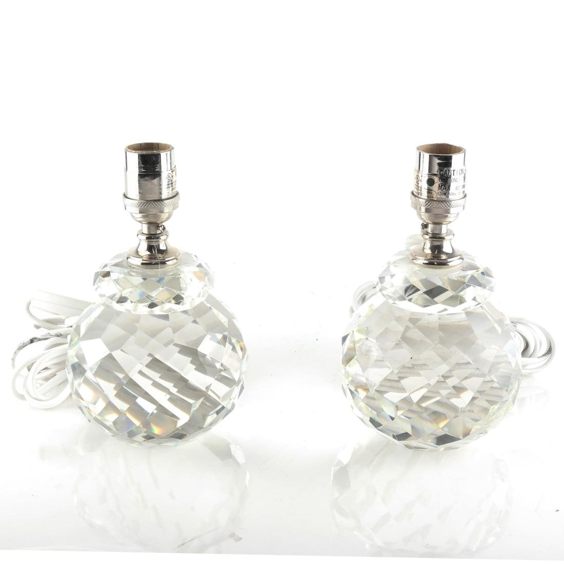 Pair of Crystal Lamps by Ralph Lauren - 2