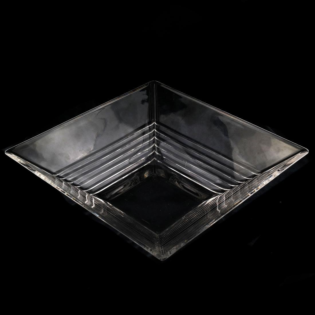 Tiffany & Co. Crystal Square Bowl