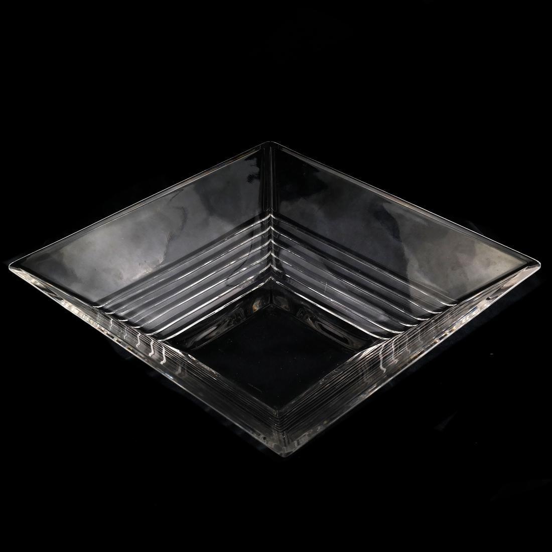 Tiffany & Co. Crystal Square Bowl