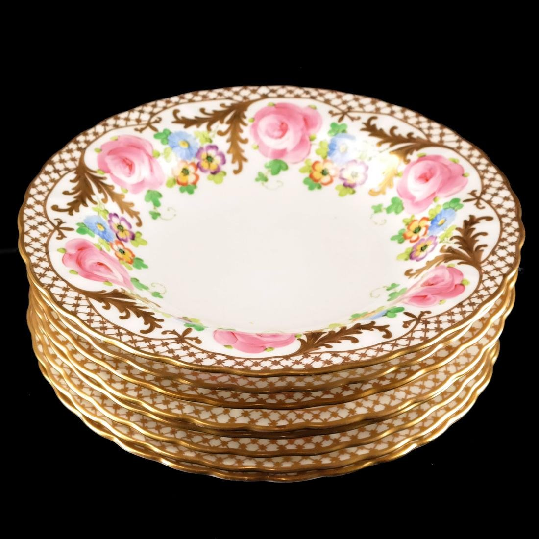 8 Crown, England Floral Decorated Bowls