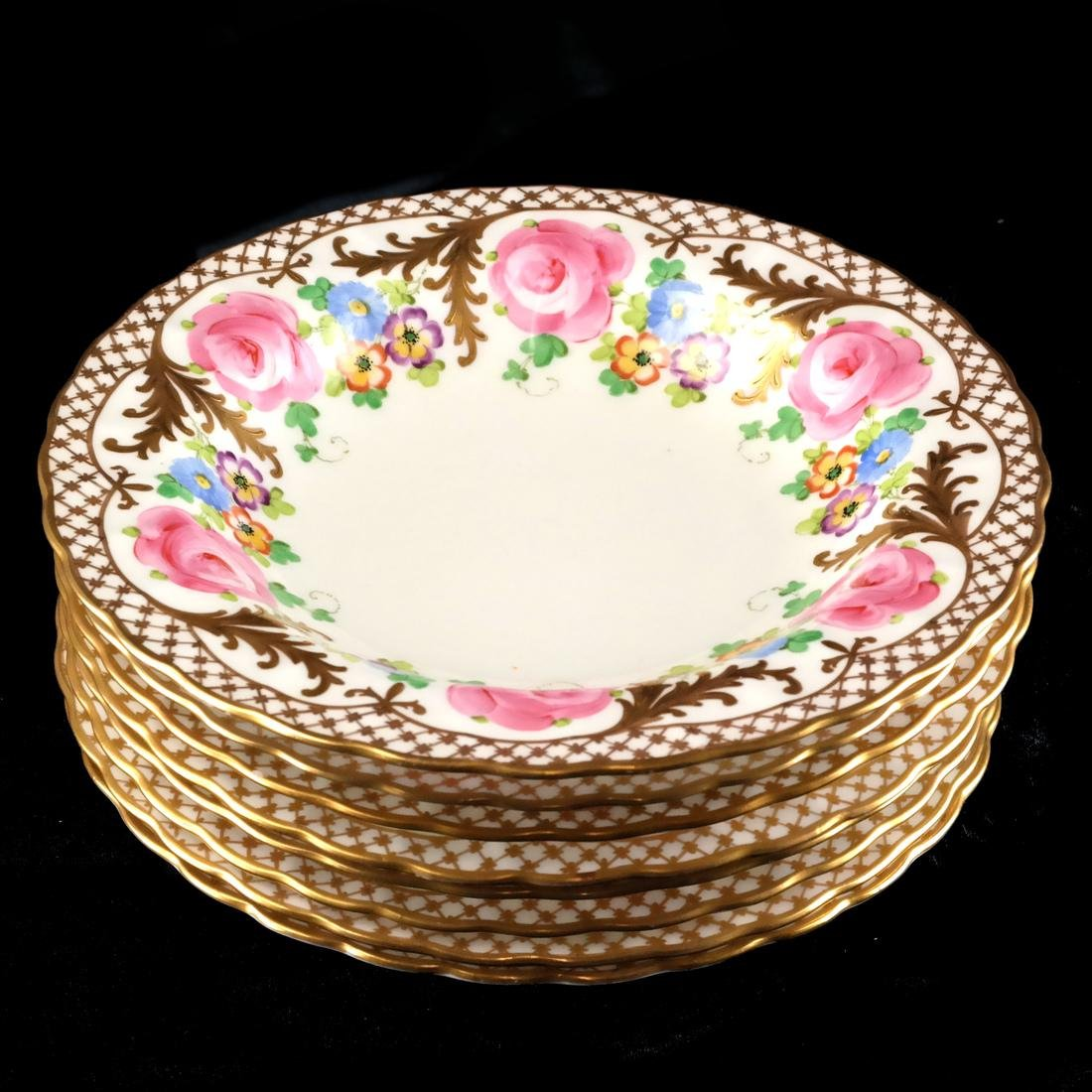 8 Crown, England Floral Decorated Bowls - 2