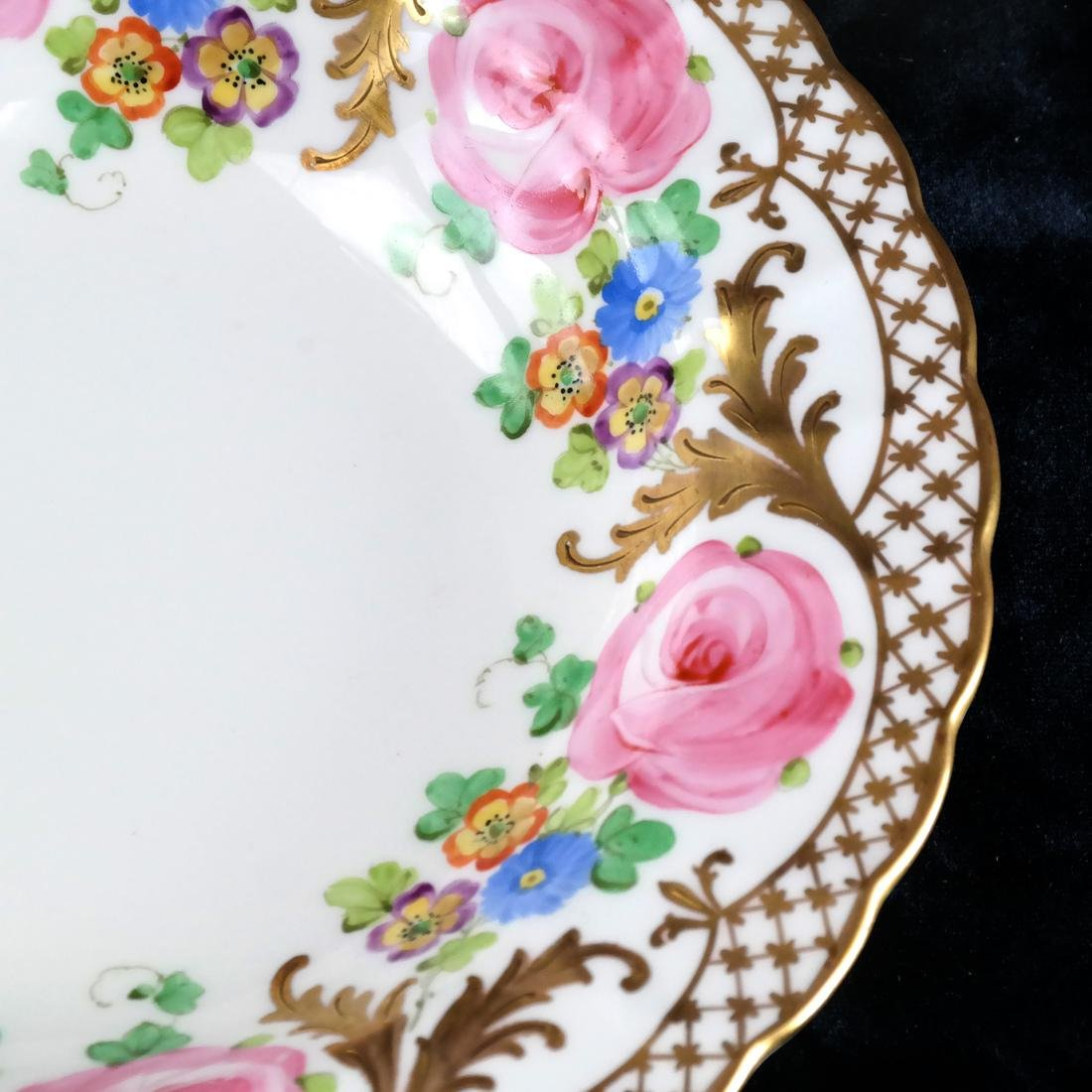 8 Crown, England Floral Decorated Bowls - 4