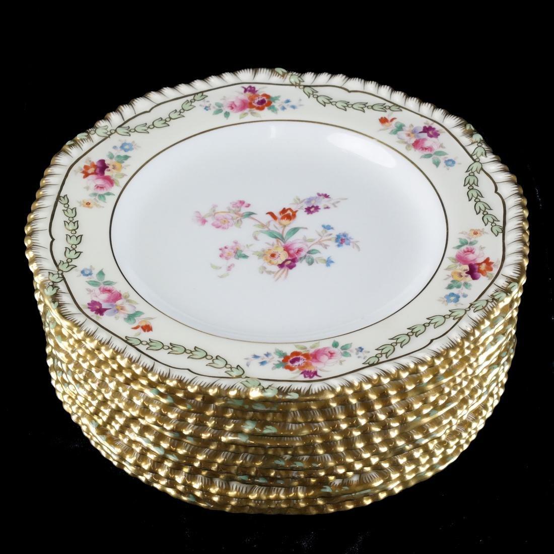 12 Wedgwood Porcelain Luncheon Plates