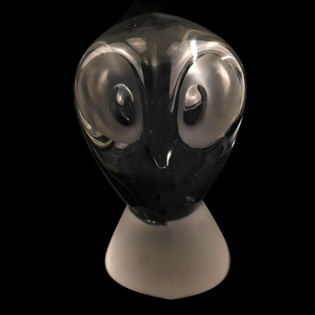 4 Glass Owls: Steuben, Baccarat, others - 4