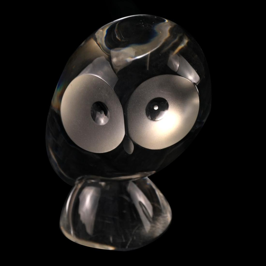 4 Glass Owls: Steuben, Baccarat, others - 5
