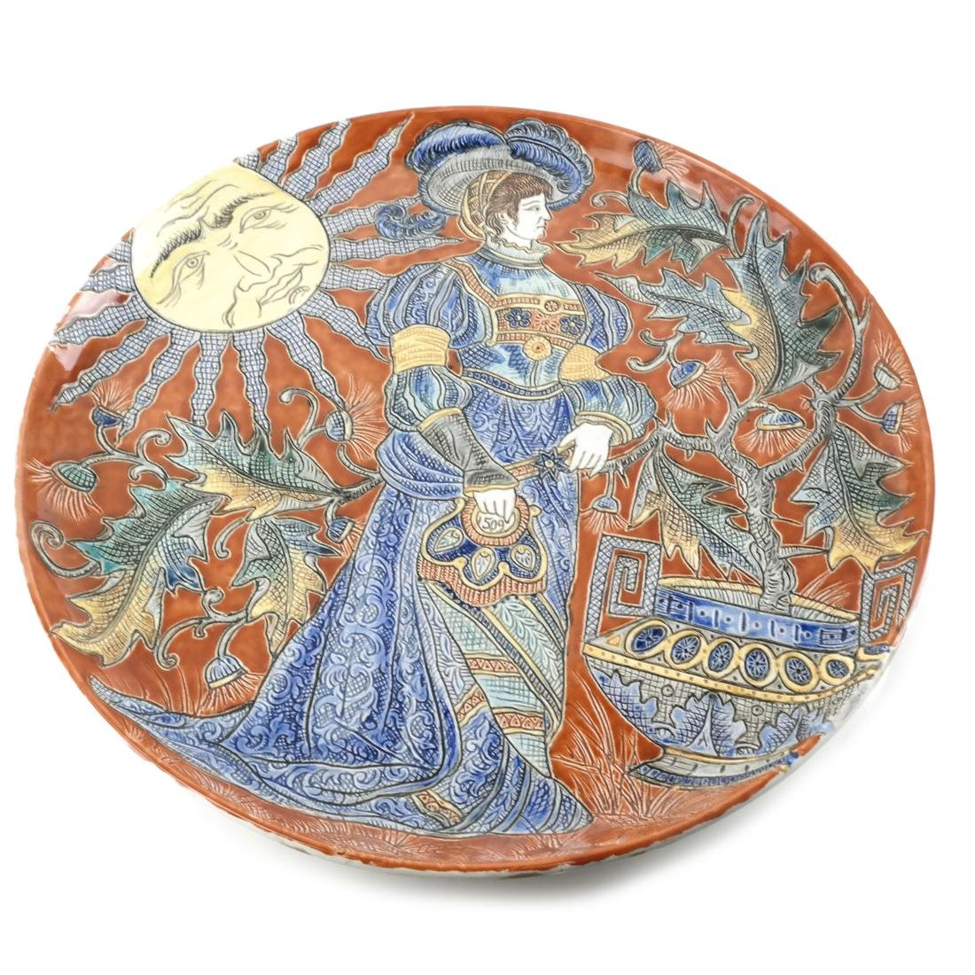 Figural Embossed Ceramic Charger