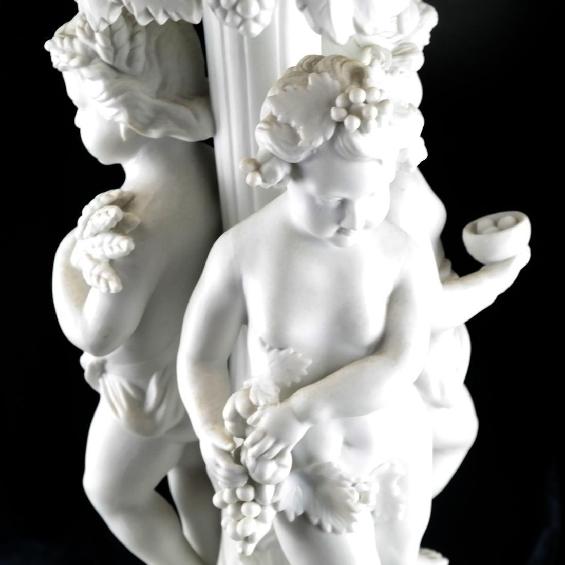 Bisque Porcelain Cherub Compote - 3