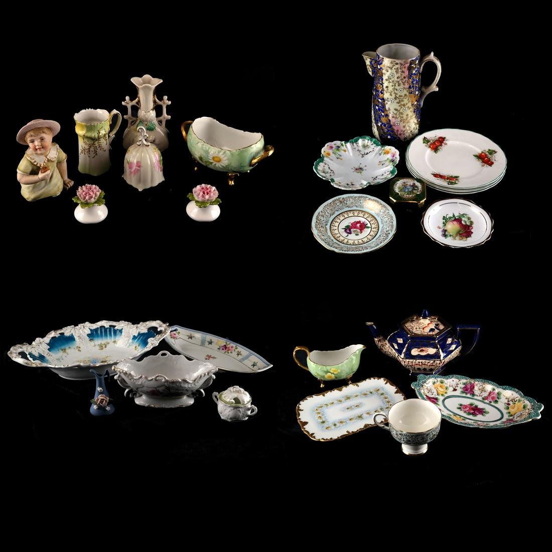 Mixed Lot of Decorated Porcelains and Ceramics