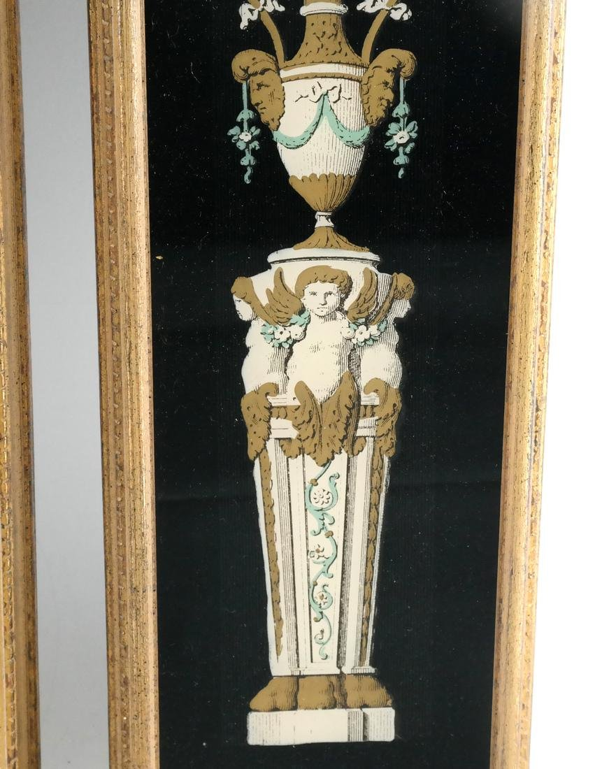 Pair of Decorated Glass Panels - 2