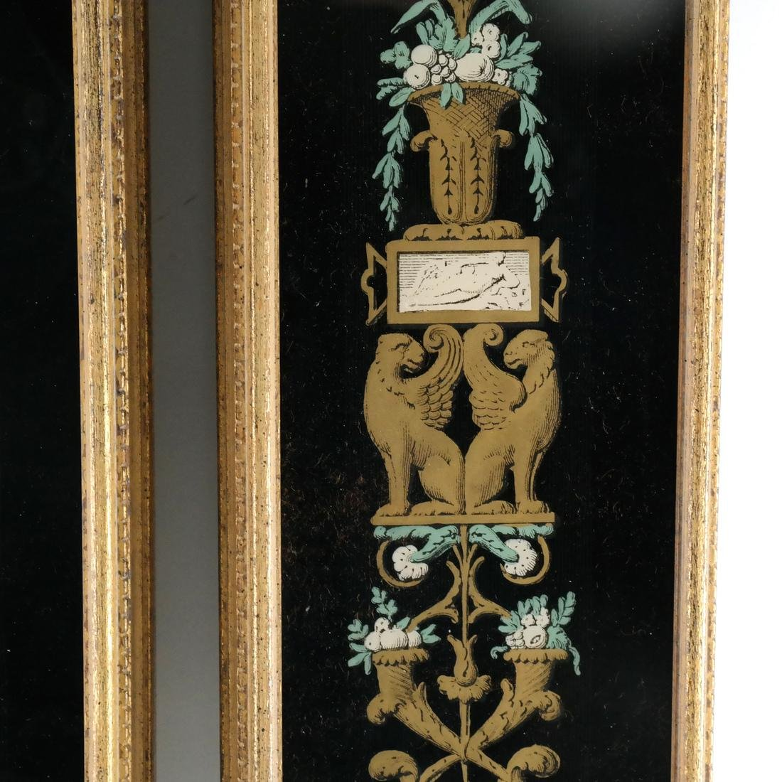Pair of Decorated Glass Panels - 5