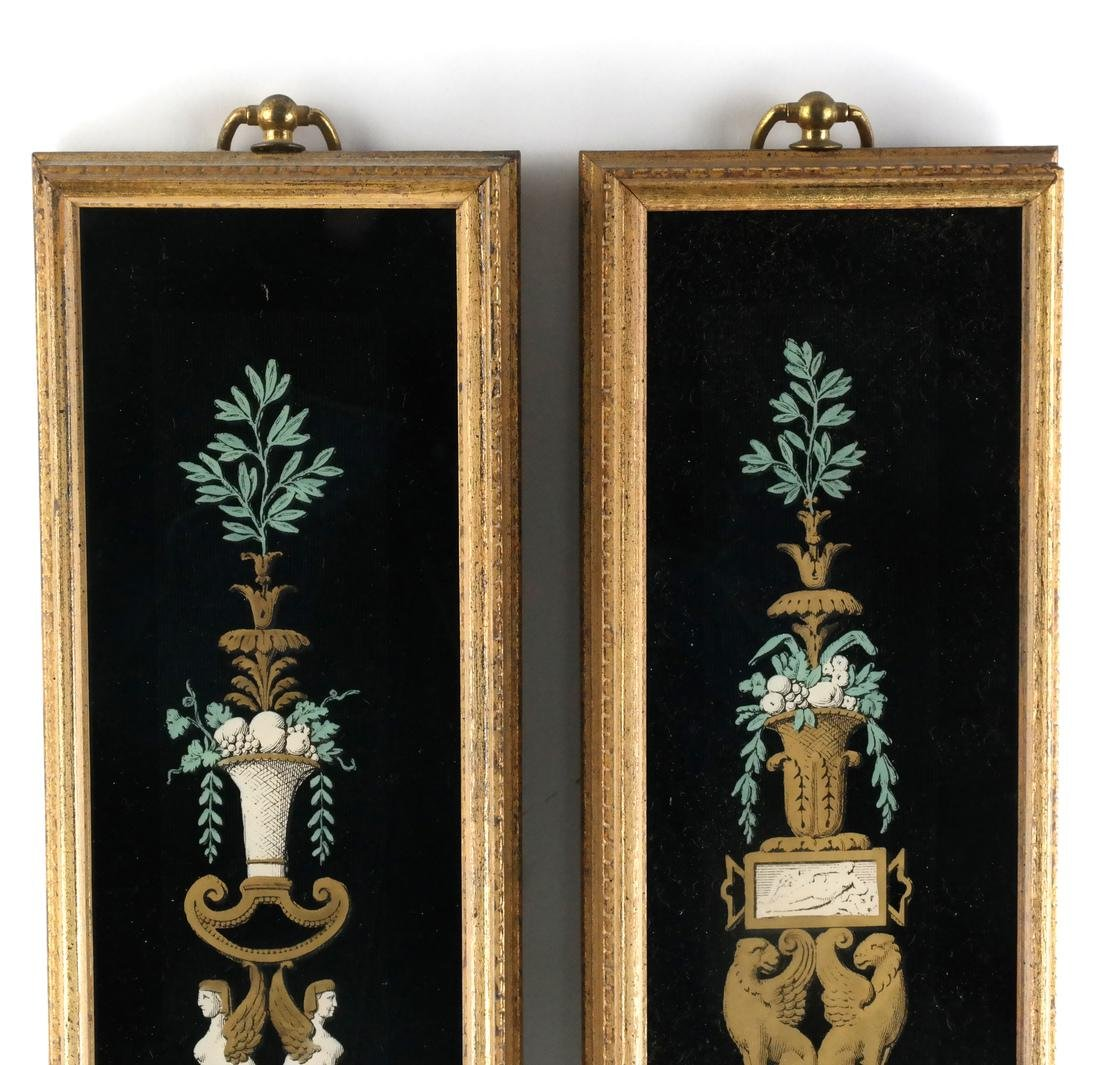 Pair of Decorated Glass Panels - 6