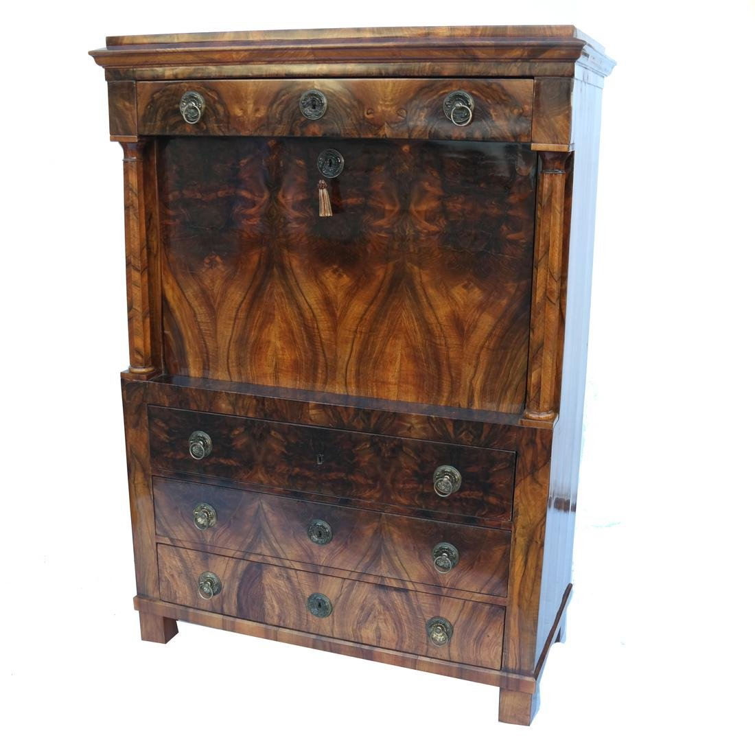 Biedermeier Exotic Wood Abattant-Desk