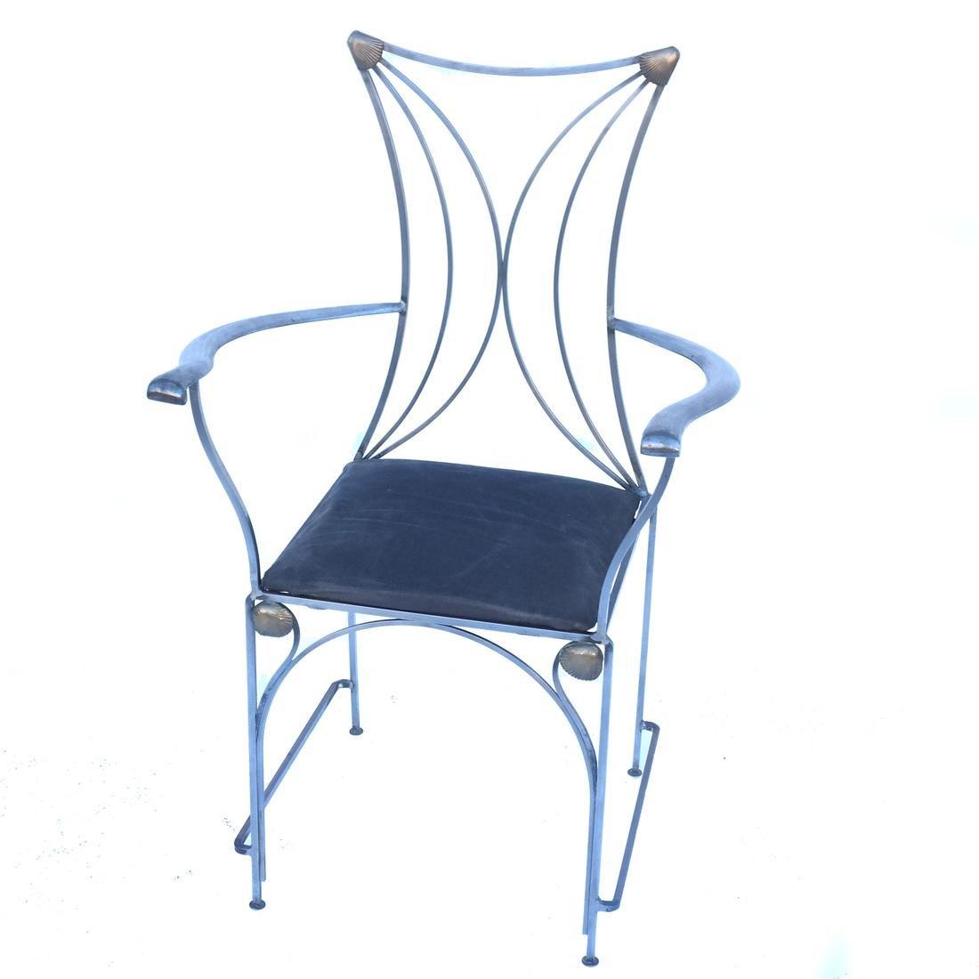 Art Nouveau-Style Steel Armchair