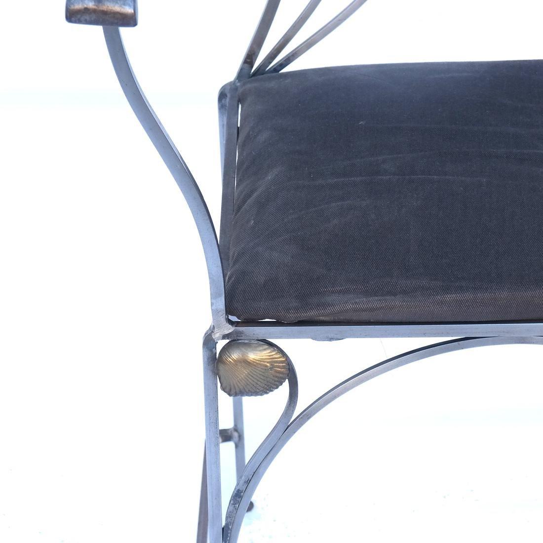Art Nouveau-Style Steel Armchair - 2
