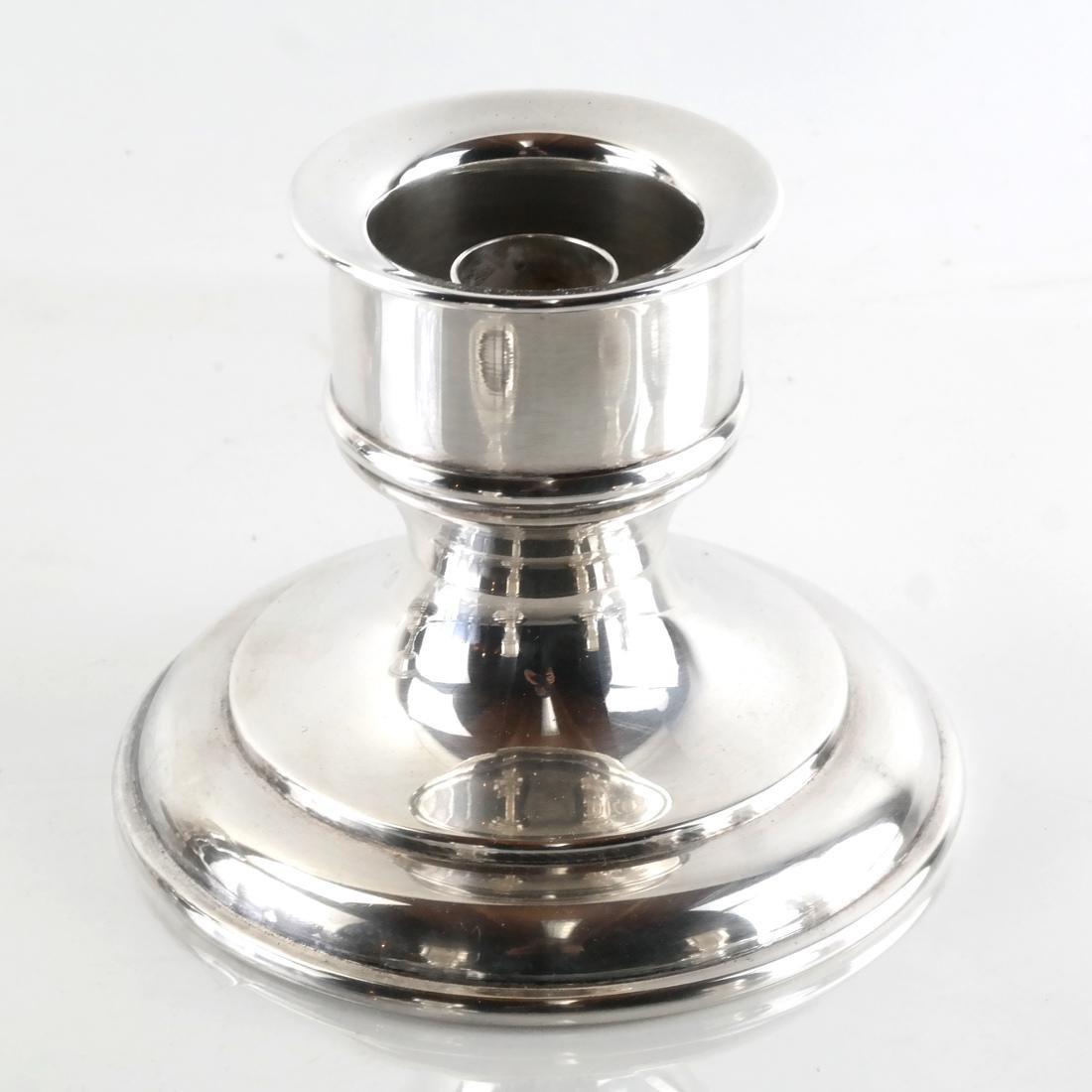 Five Silver Plate Candlesticks - 5
