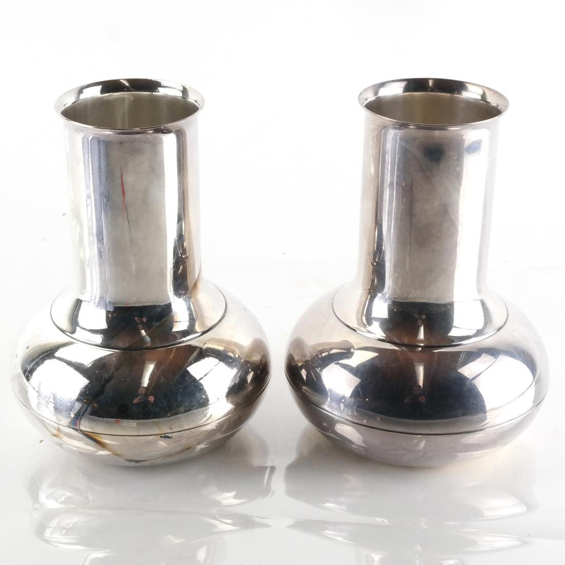Pair of Christofle Silver Plate Vases
