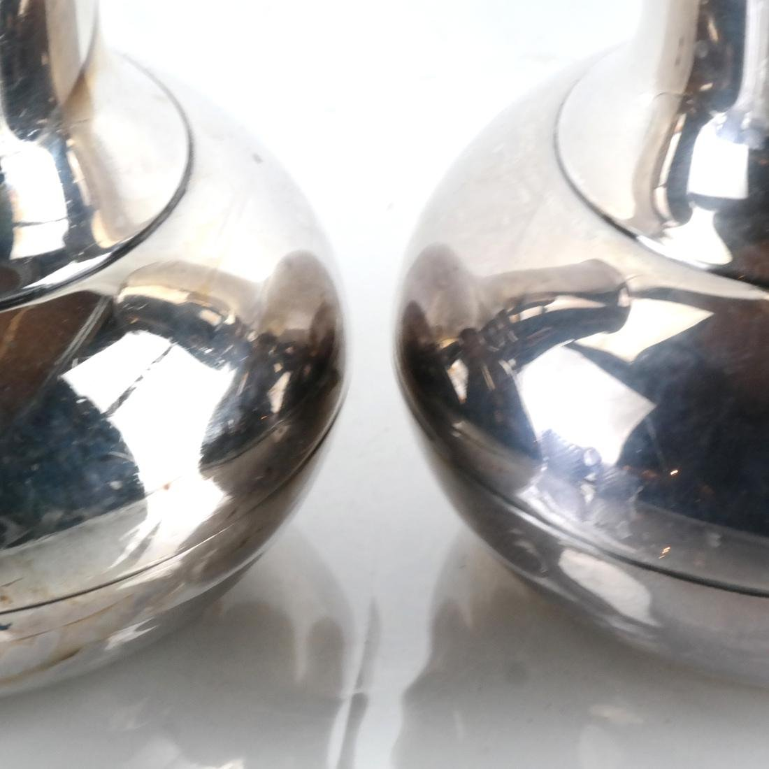 Pair of Christofle Silver Plate Vases - 3