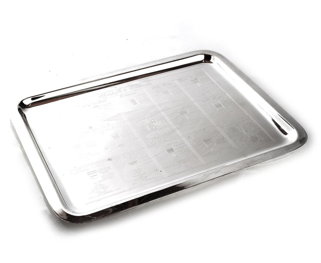 Christofle Cocktails Silver Plate Tray