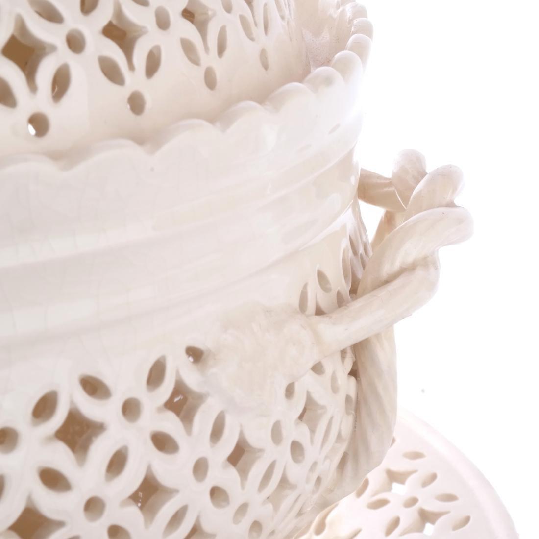 Leedsware, England: Porcelain Tureen & Underplate - 3