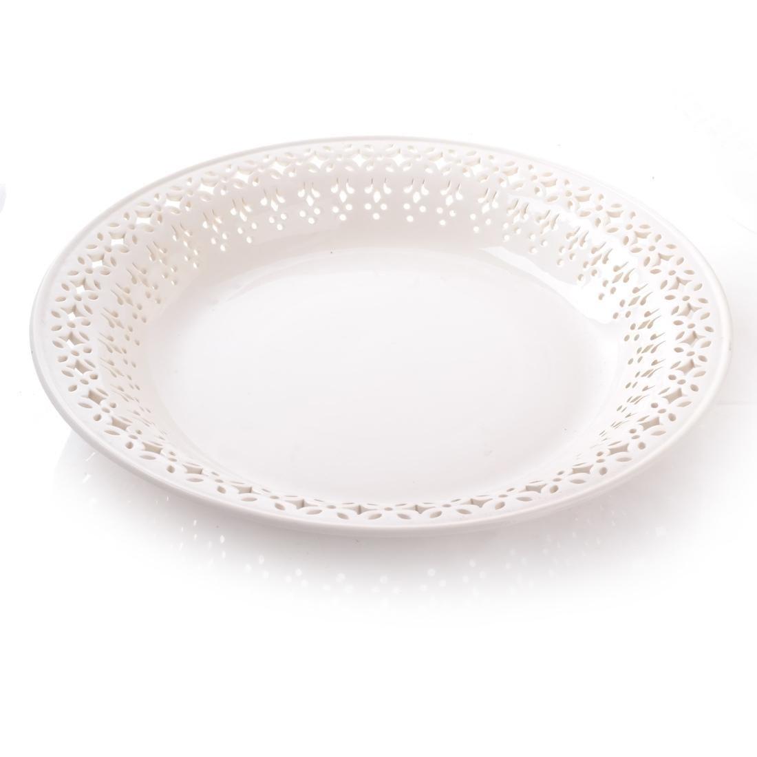 Leedsware, England: Porcelain Tureen & Underplate - 4