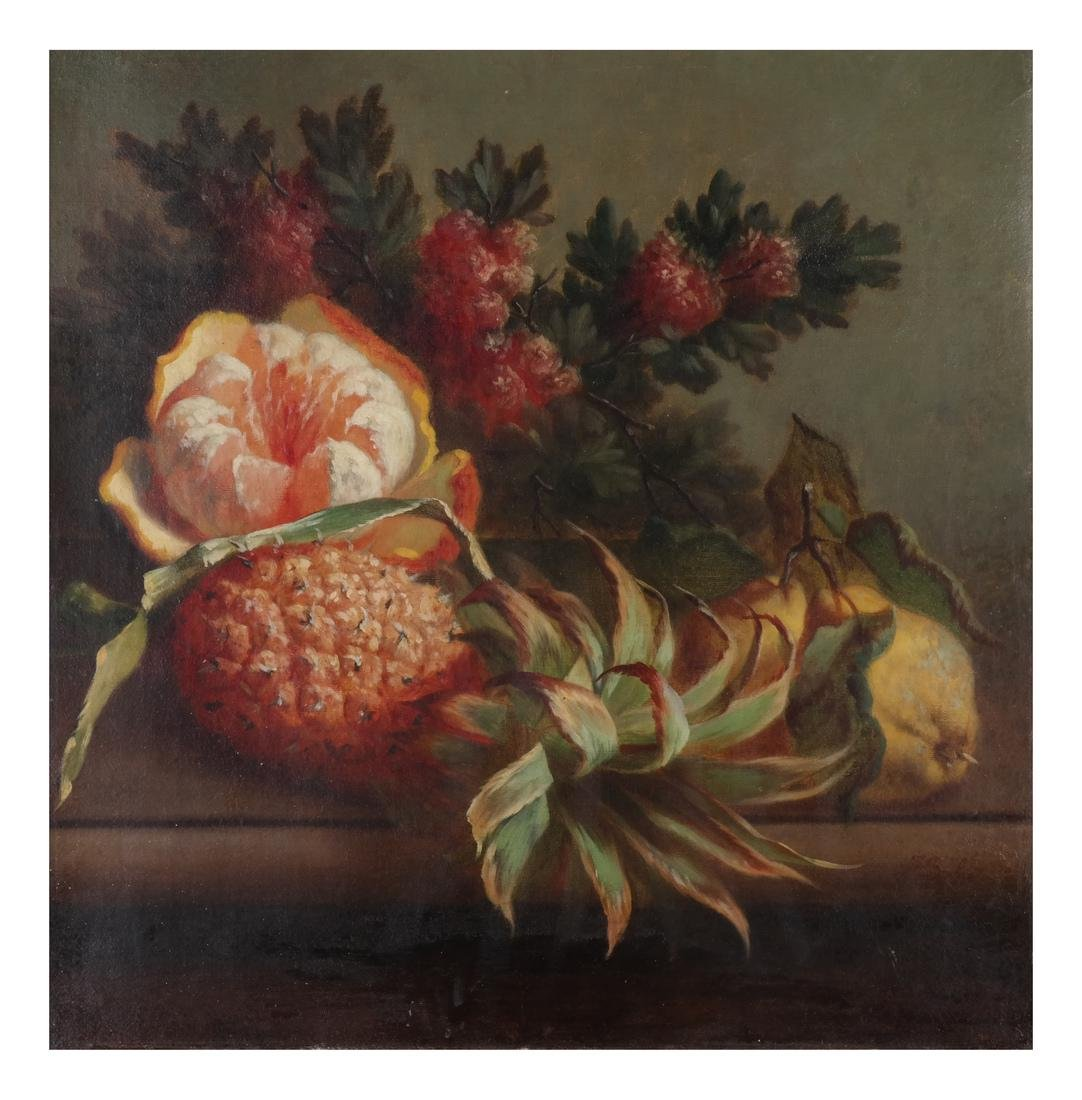 Still Life With Fruit, Oil on Canvas - 2