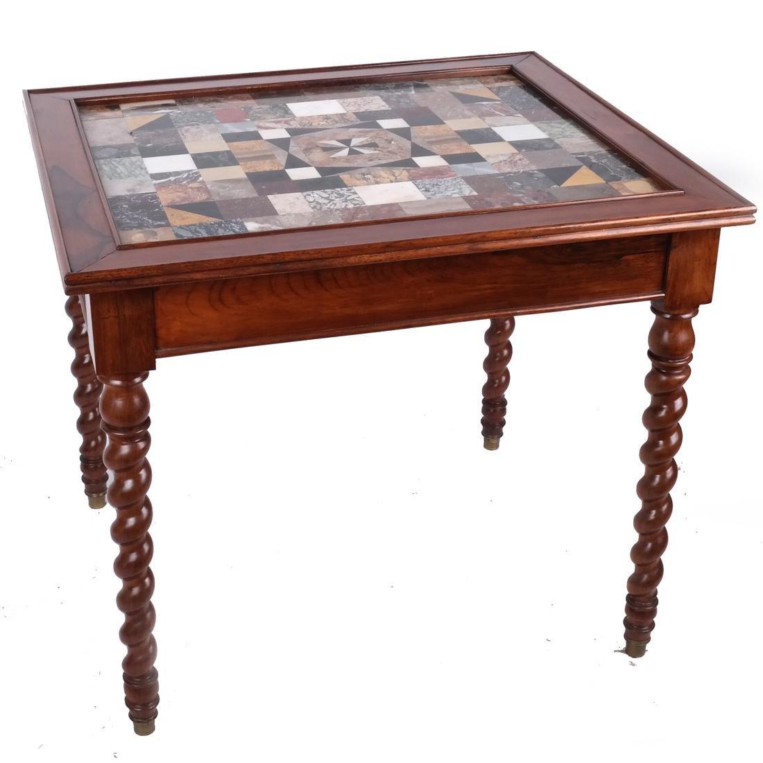 Antique Specimen Marble Top Table