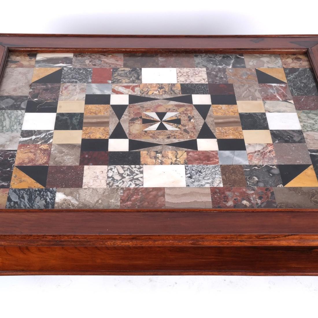Antique Specimen Marble Top Table - 2