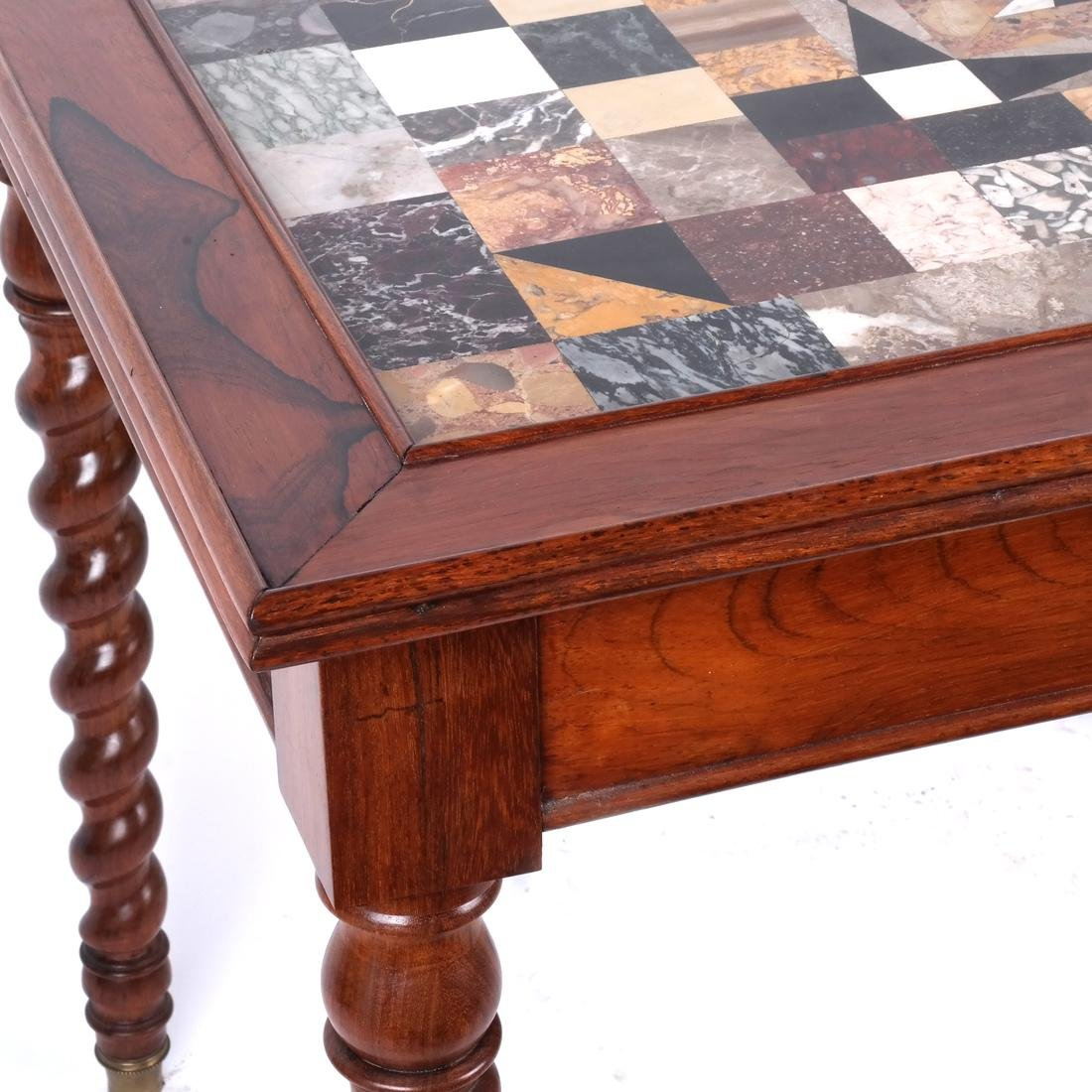 Antique Specimen Marble Top Table - 4