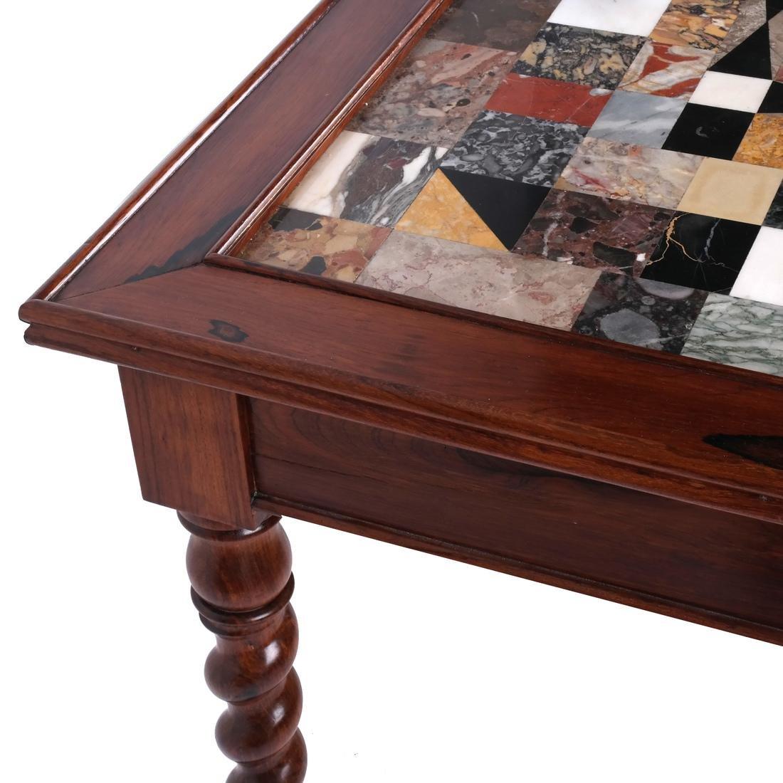 Antique Specimen Marble Top Table - 6