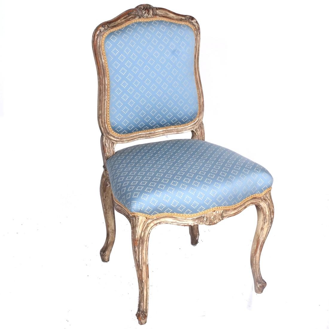 Set of Four Antique Painted Side Chairs - 2