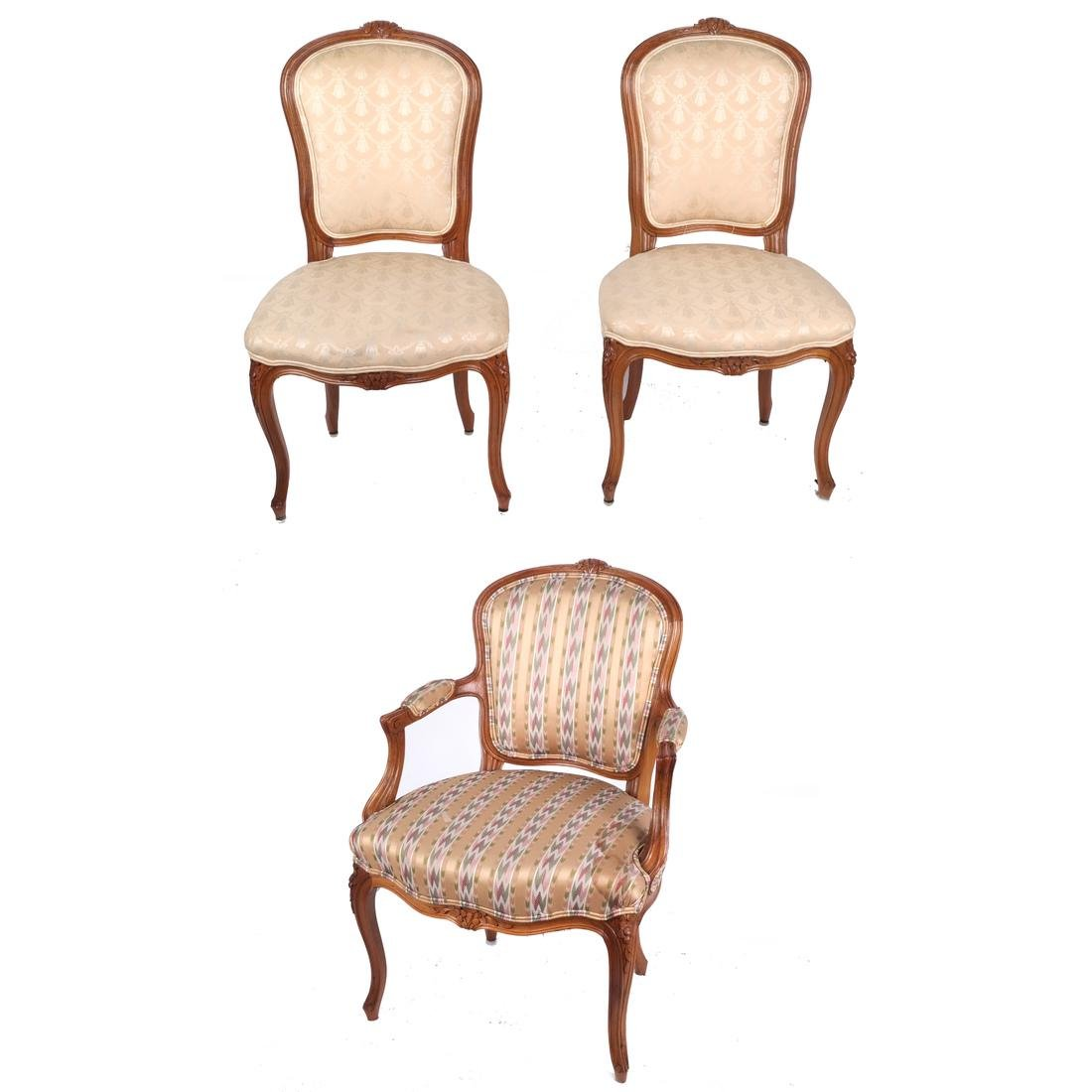 Set of 10 Provincial Dining Chairs - 2