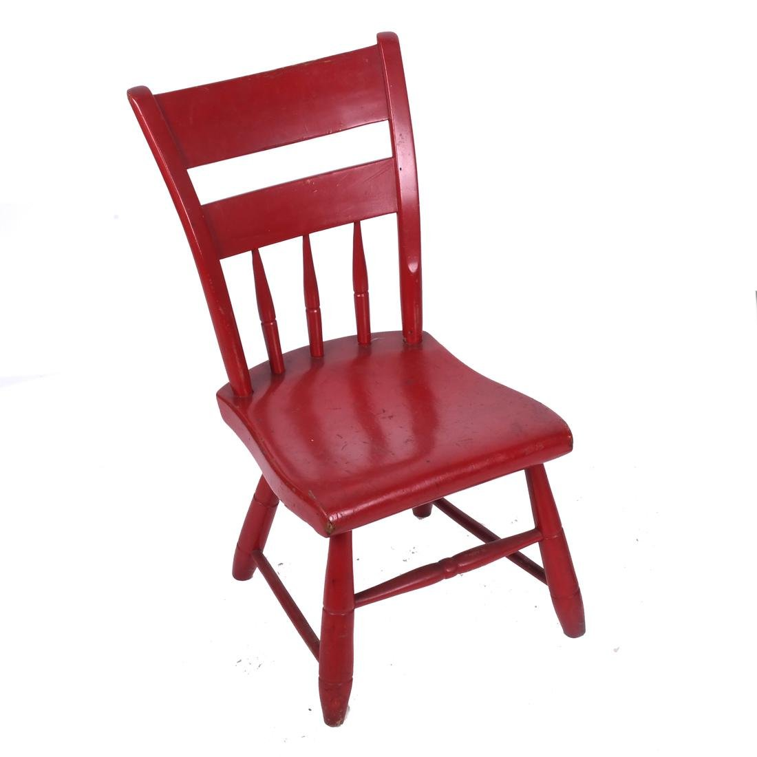 Two Chairs: Red & Rush Seat - 2