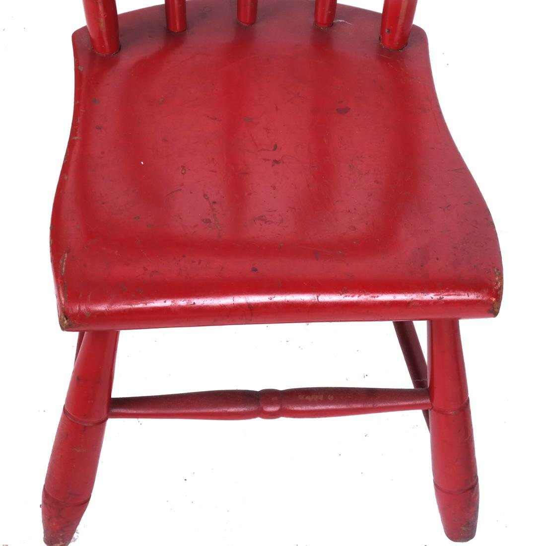 Two Chairs: Red & Rush Seat - 6