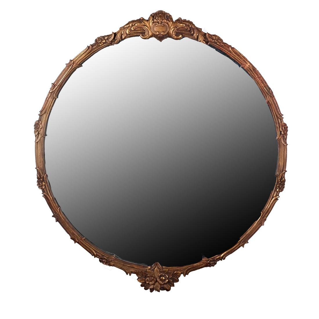 Carved Beveled Glass Mirror