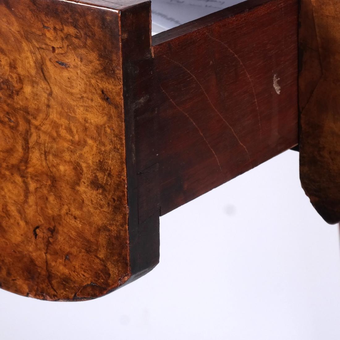 Walnut Tooled Leather Bureau Plat - 5