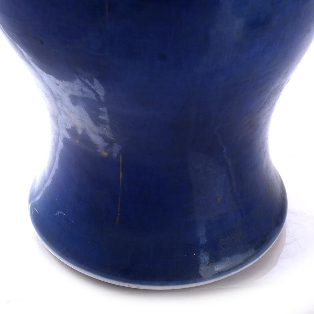Asian Blue Ceramic Lamp - 3