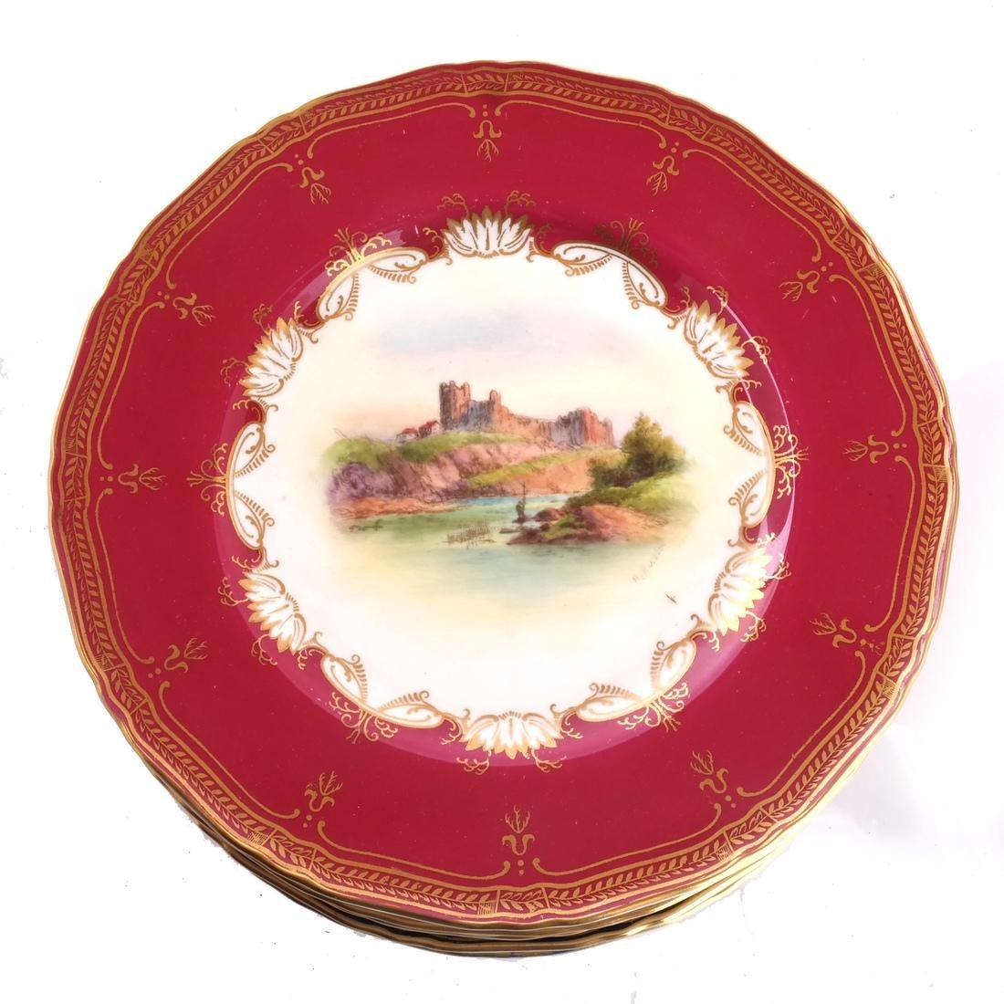 """12 Royal Worcester Plates: """"Richmond Castle"""" - 2"""