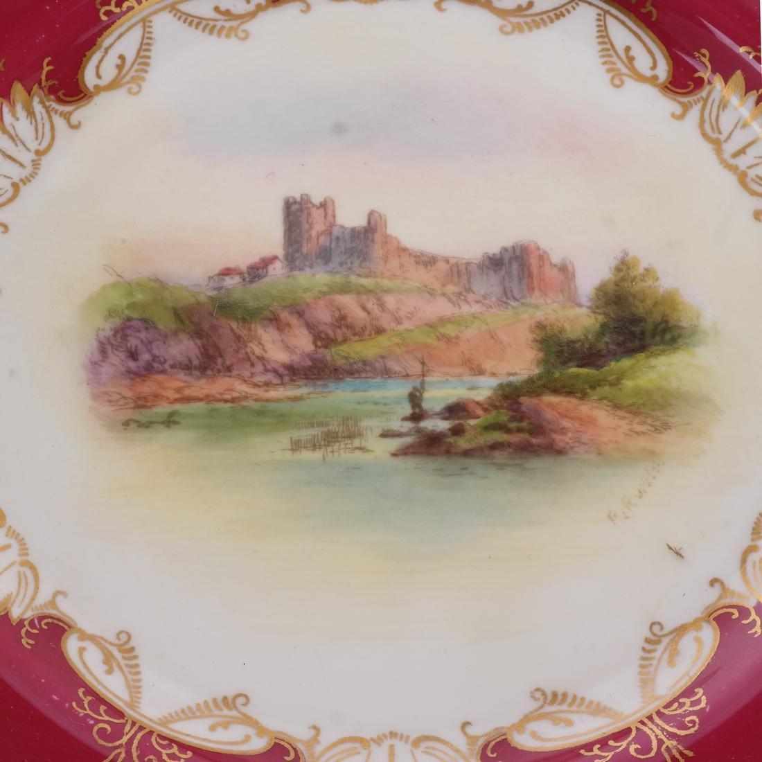 """12 Royal Worcester Plates: """"Richmond Castle"""" - 3"""