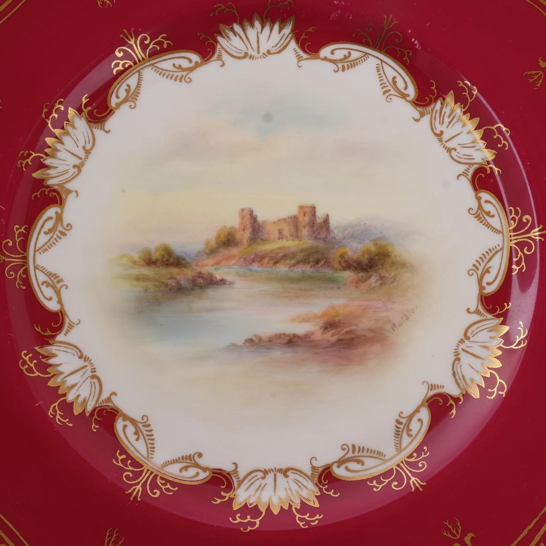 """12 Royal Worcester Plates: """"Richmond Castle"""" - 6"""