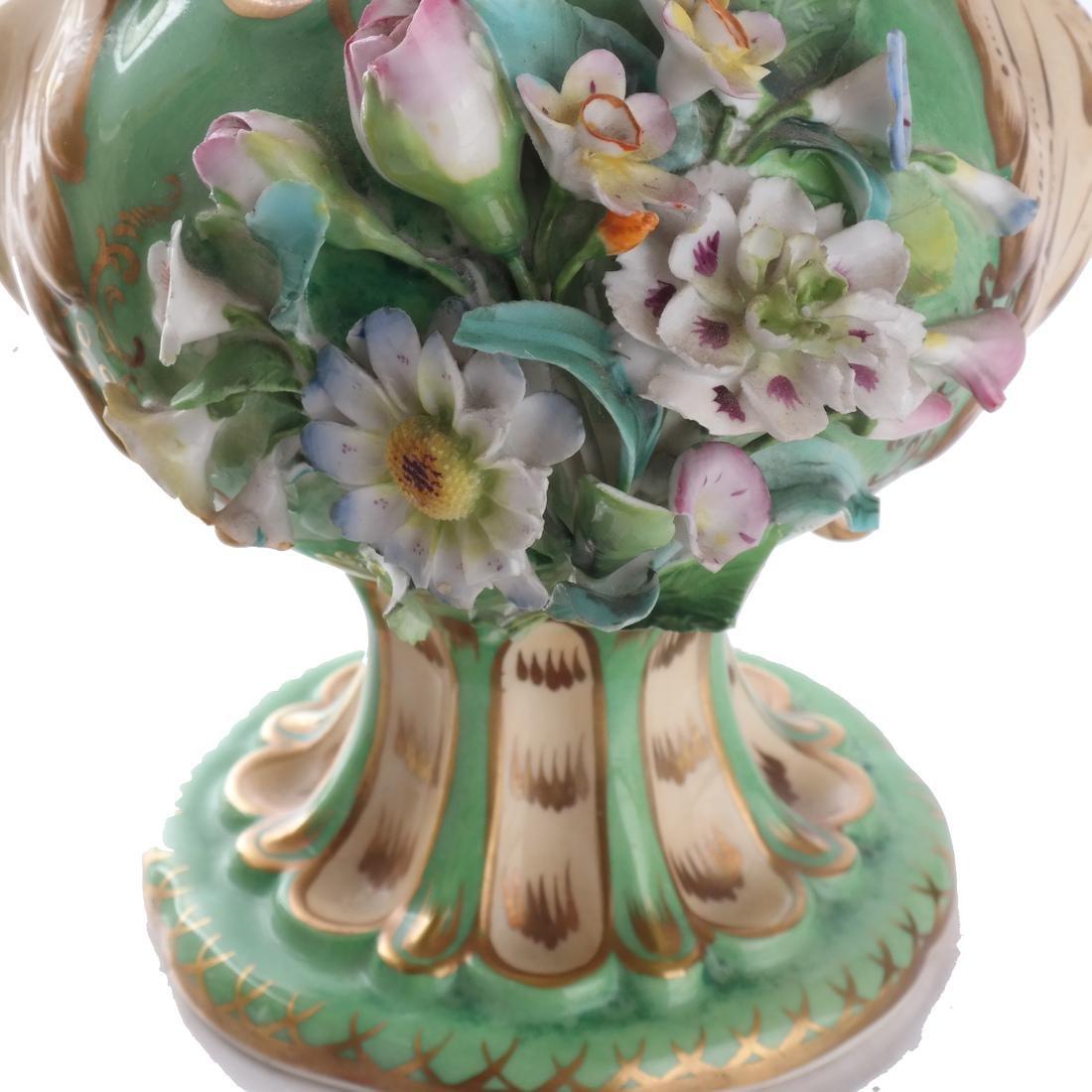 Pair of Green Porcelain Flare Vases - 4