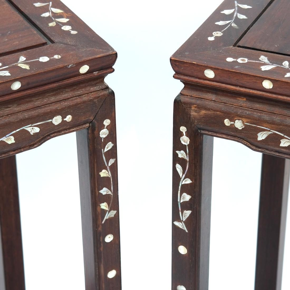 Indo-Chinese Pair of Inlaid Tables - 2