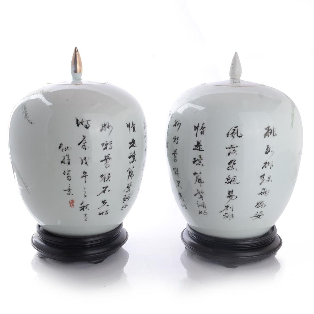 Pair of Antique Chinese Ginger Jars - 5