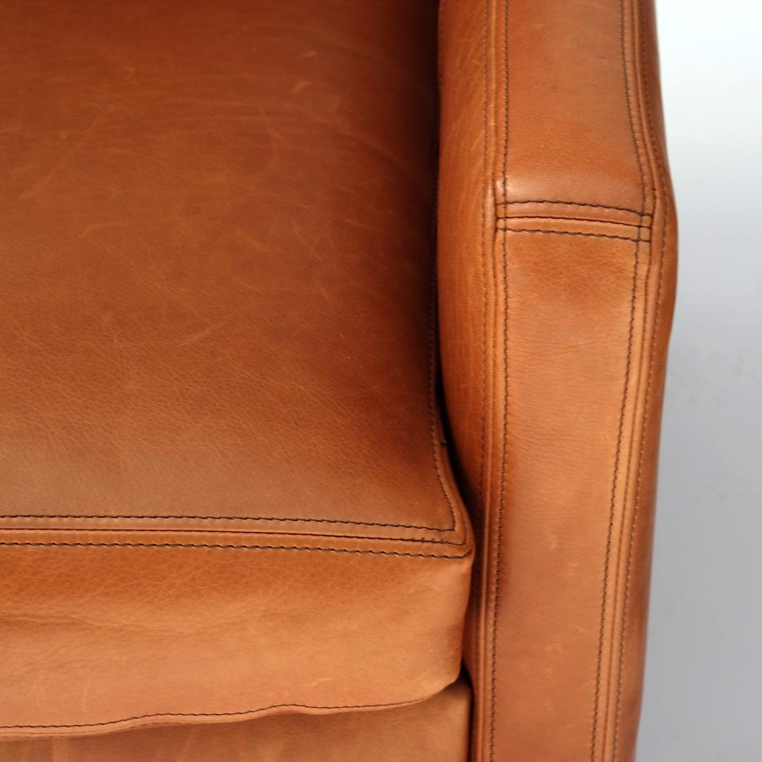 Pair Reclining Leather Club Chairs - 2