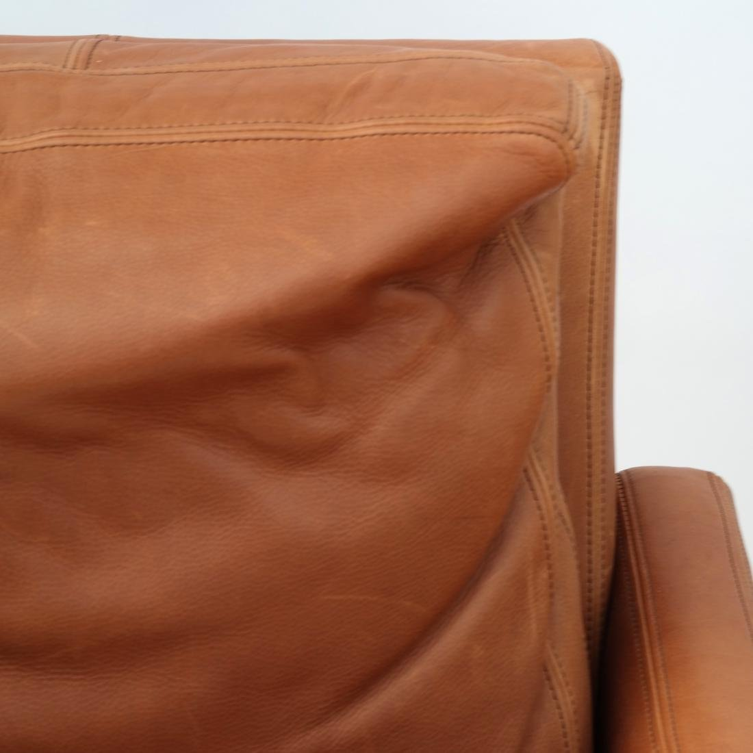 Pair Reclining Leather Club Chairs - 3