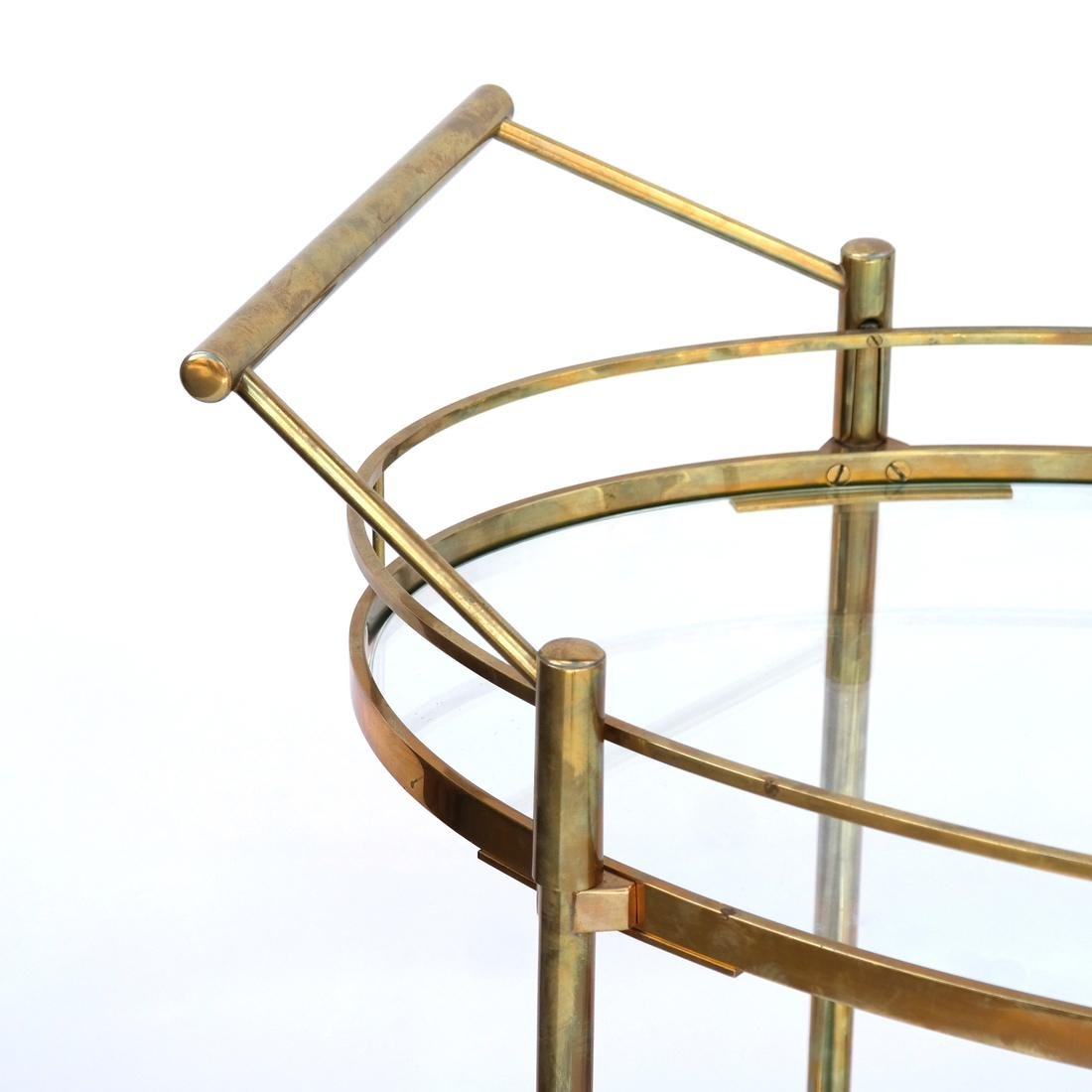 Contemporary Gilt Brass Tea Cart/Trolley - 2
