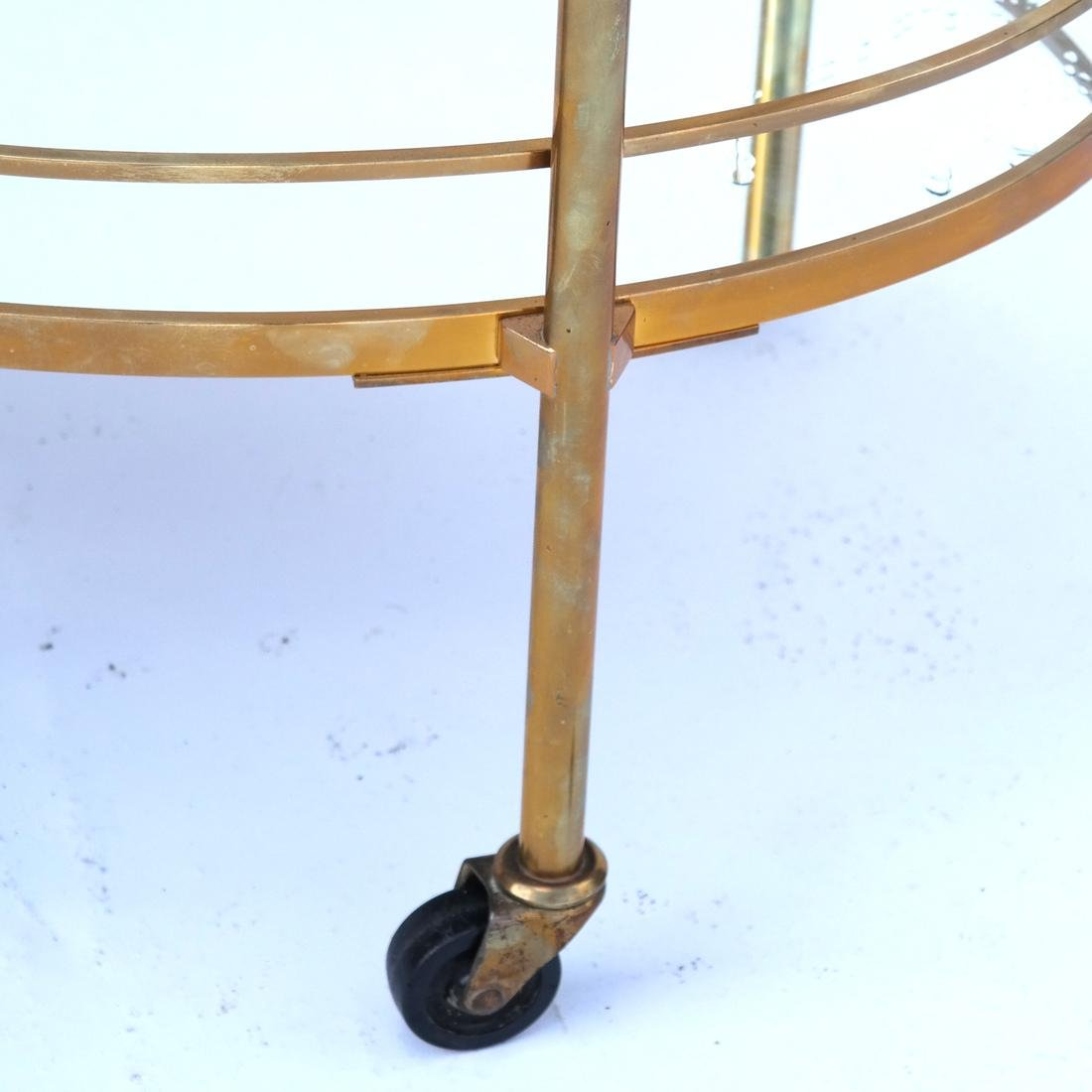 Contemporary Gilt Brass Tea Cart/Trolley - 4